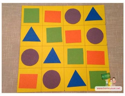 Oyuncak Yapalım / Şekillerle Sudoku Oyunu