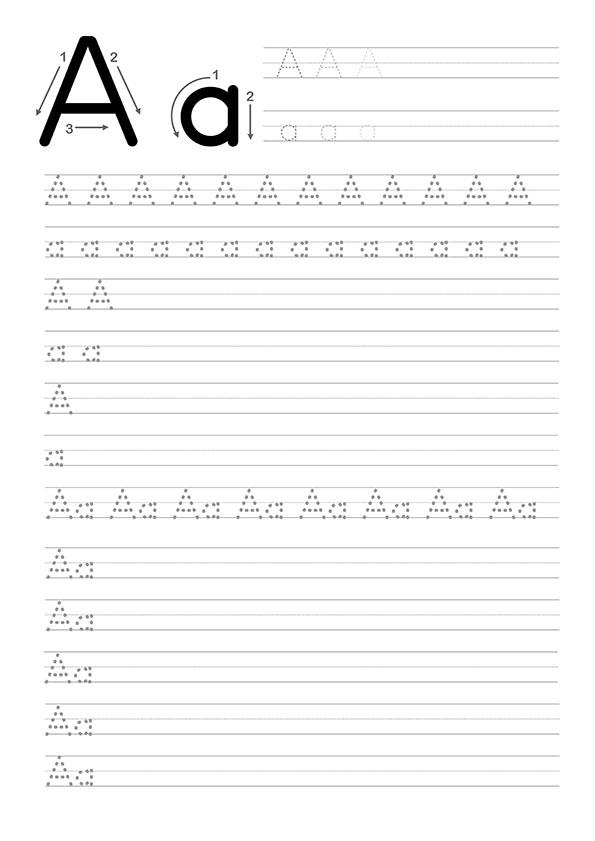 A Harfi Dik Temel Harfler Çalışma Sayfaları