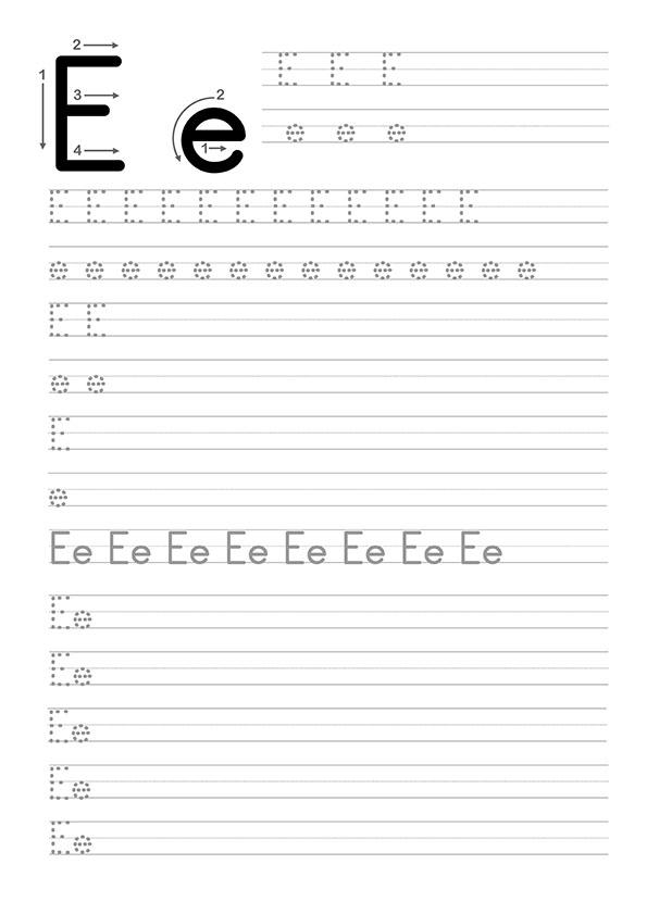 E Harfi Dik Temel Harfler Çalışma Sayfaları